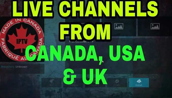 Made in Canada Kodi Live IPTV Add-on