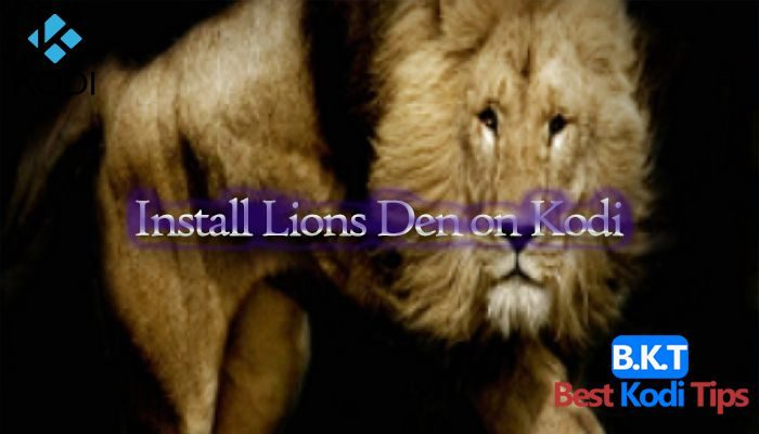 how to Install Lions Den on Kodi