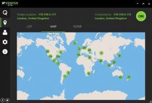server locations of ipvanish