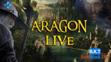 how to install aragon live on kodi