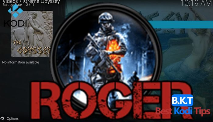 how to install roger on kodi