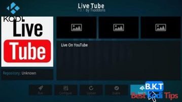 How to Install LIVE TUBE on Kodi