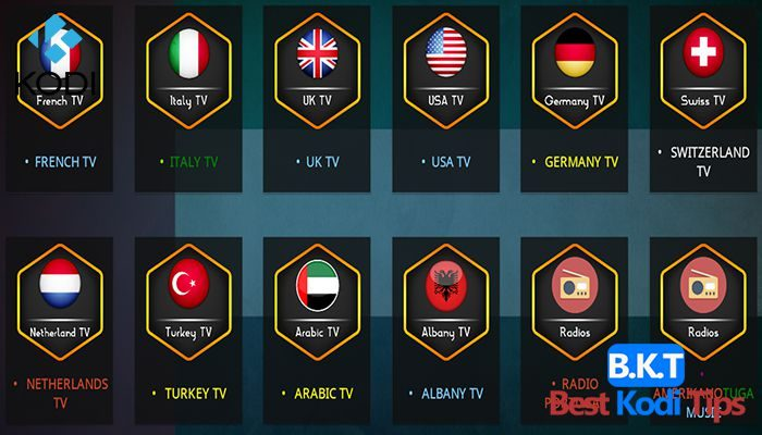 best liv tv addons for kodi