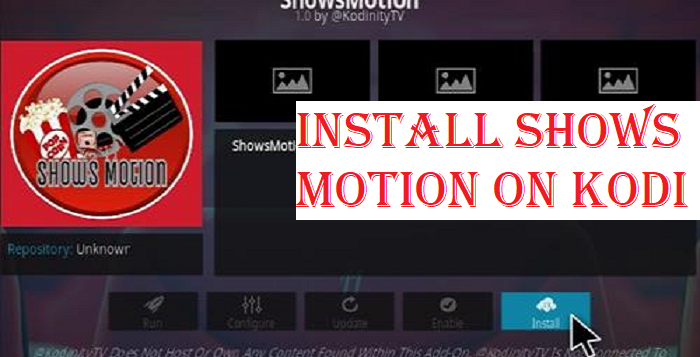 Install Shows Motion on Kodi