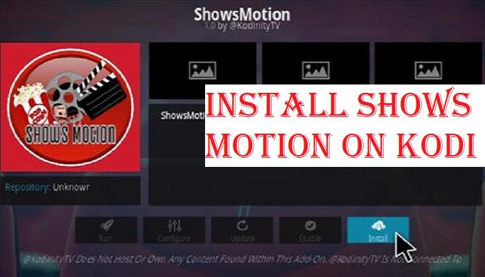 Install Shows Motion on Kodi