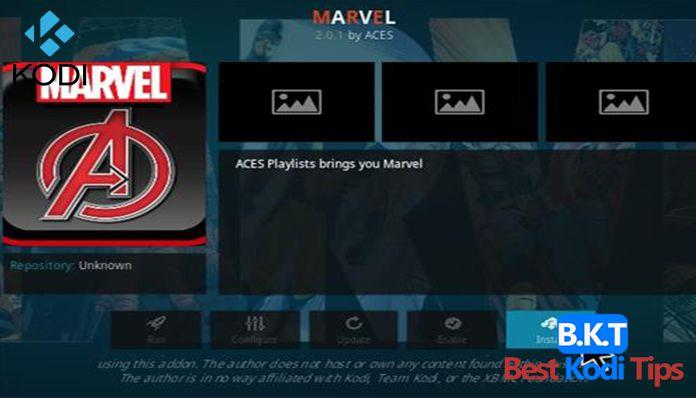 how to install Marvel on kodi