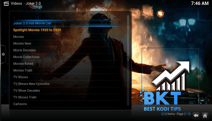 how to install Joker 2.0 on kodi