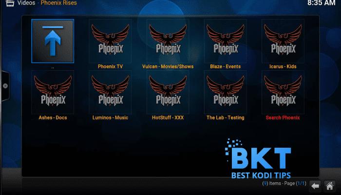 how to install Phoenix Rises on kodi